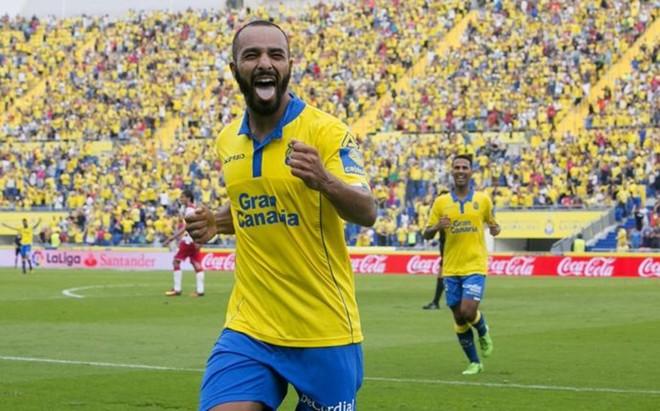 El Zhar marc� dos de los cinco goles de la 'manita' que le endos� Las Palmas al Granada
