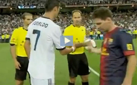 Ronaldo y Messi, en el momento del \'no\' saludo