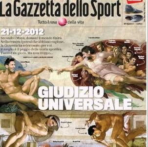 "La espectacular portada de \""La Gazzetta dello Sport\"""