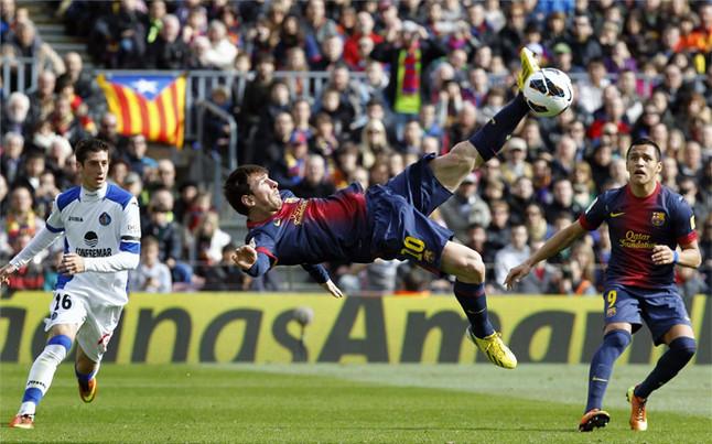 اللعب خارج القواعد برشلونة يكون