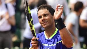 Rafa Nadal, contento de cómo fue su debut en Roland Garros