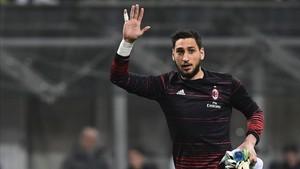 Donnarumma ha cumplido, a sus 18 años, su segunda temporada como titular en el Milan