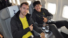 Christian Erikssen y Son Heung-Min en el vuelo del Tottenham hacia Madrid