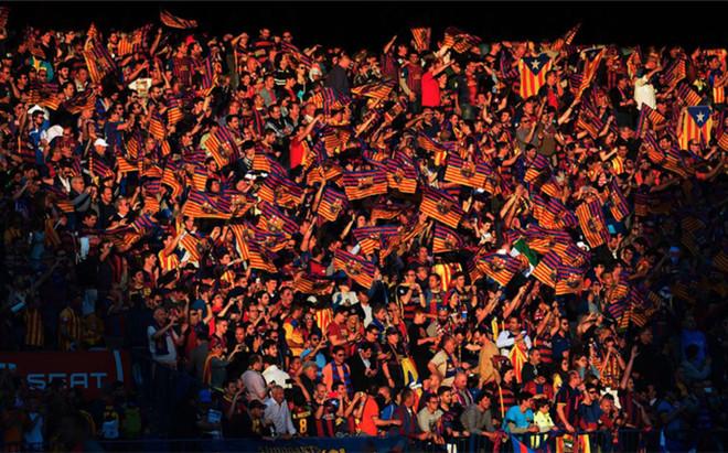 La afici�n del Barcelona, en la final