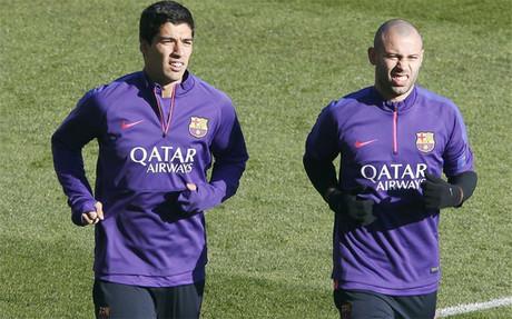 Si el Bar�a se clasifica para la final de Copa, Luis Su�rez y Mascherano se la podr�an perder
