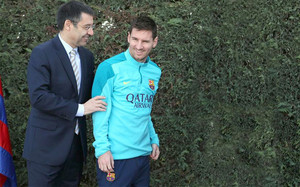 Bartomeu apoya a Messi en su pulso con Luis Enrique