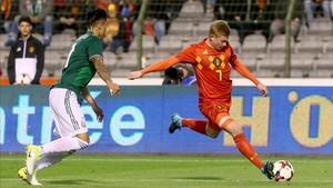 De Bruyne en el amistoso con México
