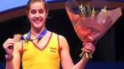 Carolina Mar�n conquist� su segundo oro consecutivo en los Europeos de B�dminton