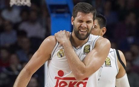 Felipe Reyes cay� lesionado ante el Laboral Kutxa en la Euroliga