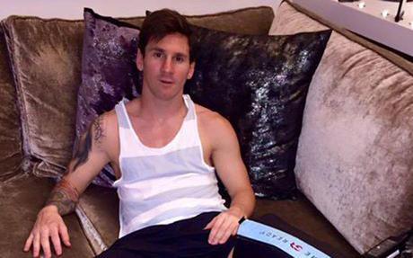 Leo Messi, en su domicilio