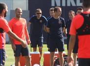 Luis Enrique se reuni� con sus jugadores para pedirles m�xima intensidad y concentraci�n ante el Celta