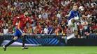Piqué salió a la carrera del Santiago Bernabéu