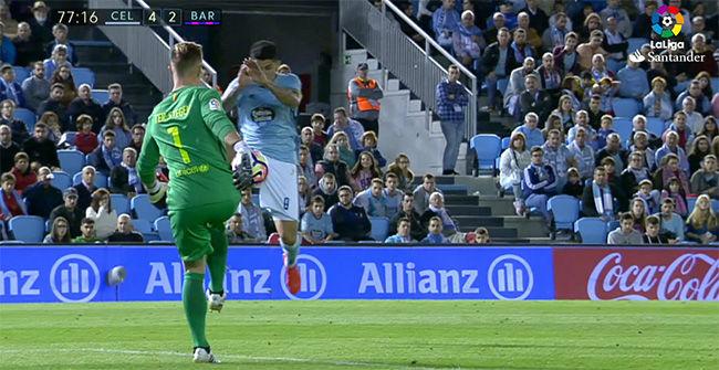 El error de Ter Stegen en el cuarto gol del Celta