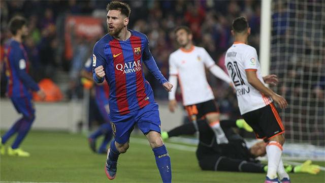 Video resumen: Messi marcó el 3-2 al Valencia con la derecha