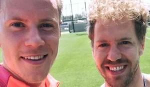 Vettel, junto a Ter Stegen