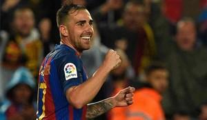 Paco Alcácer, en el once titular del Barcelona