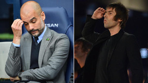 Pep Guardiola recibió el azote de la crítica de Liam Gallagher