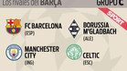 City, Gladbach y Celtic, los rivales del Bar�a en la Champions