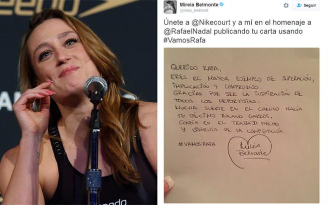 Belmonte apoya a Rafa Nadal