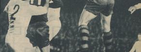 Con este cabezazo de Gallego sentenció el Barça el derbi del 28 de diciembre de 1969, con Pujol al quite y toda la defensa blanca sorprendida ante el salto del central andaluz