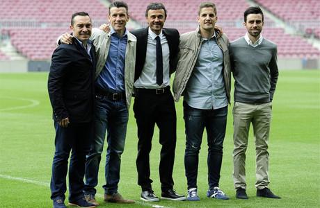 Luis Enrique y su equipo de confianza
