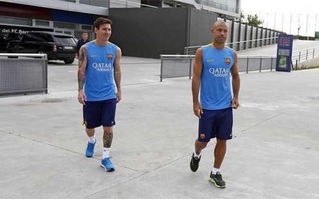 Messi y Mascherano, amigos, compatriotas y jugadores del FC Barcelona