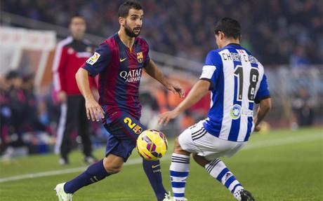 Montoya, en el partido de Anoeta ante la Real Sociedad