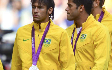 Neymar ya fue medalla de plata en Londres 2012