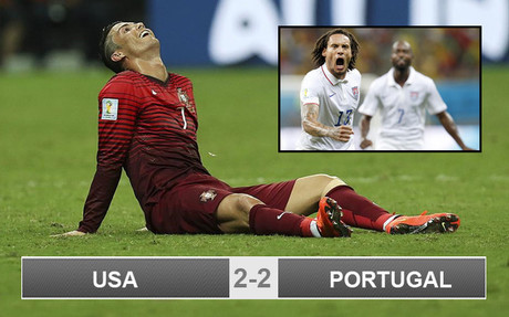 Portugal 2-2 USA