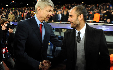 Wenger y Guardiola ya han coincidido en varios compromisos de la Champions