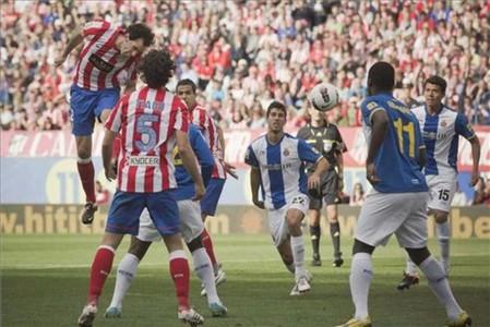Con este gol abrió el Atlético el marcador