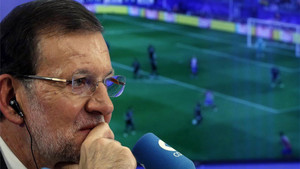 Mariano Rajoy siguió el clásico del Camp Nou