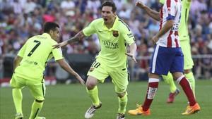 Leo Messi ha celebrado grandes goles en el Vicente Calderón