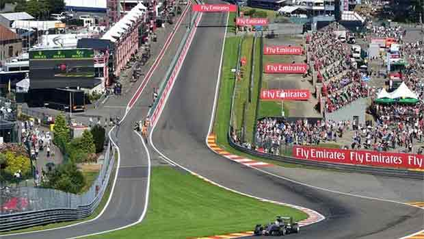 El circuito de Spa Francorchamps del GP de Bélgica de F1 (ES)