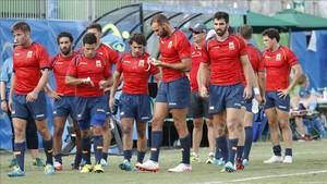 La selección nacional tras perder contra Australia en Río