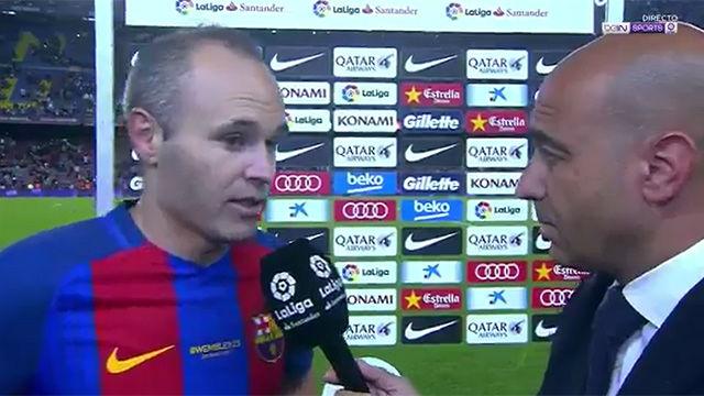 Iniesta explicó por qué no ha ganado la liga el Barça