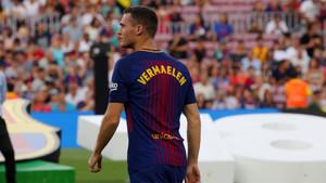 Thomas Vermaelen, que tiene en dorsal 25, ha sido convocado por vez primera por Ernesto Valverde