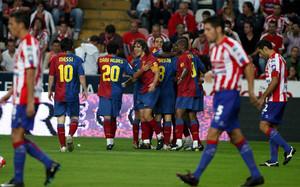 El Barça de Guardiola depejó las dudas iniciales en El Molinón