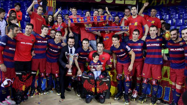 El FC Barcelona Lassa recibe el t�tulo de la OK Liga