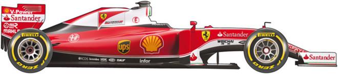 El coche de Ferrari para el Mundial de F1 de 2016