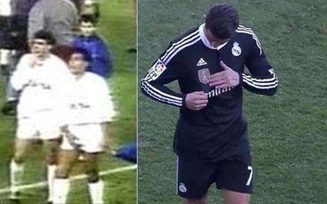 Hugo S�nchez y Cristiano Ronaldo, dos gestos m�s que comparables