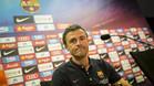 Luis Enrique en la sala de prensa de la Ciutat Esportiva del Barça