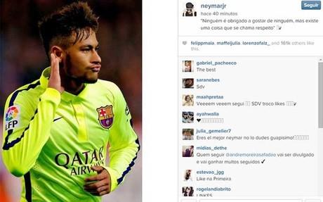 Neymar se pronunci� a trav�s de su perfil de Instagram