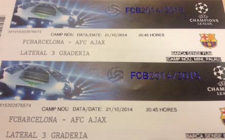 �Quieres ir al Bar�a - Ajax?