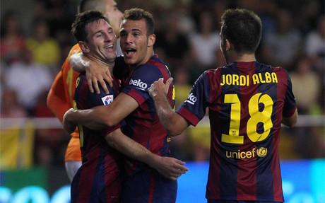 Sandro, justo tras el gol ante el Villarreal