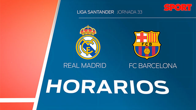 Horario y d nde ver el real madrid fc barcelona de la for Horario oficinas banco santander barcelona