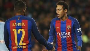 Rafinha y Neymar se pierden el clásico por lesión y sanción