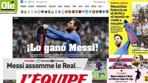 Resumen de las portadas de la prensa mundial