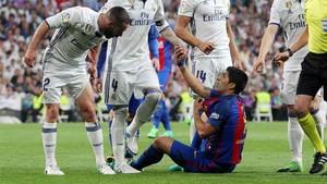 Carvajal y Luis Suárez protagonizaron un duelo de alta tensión
