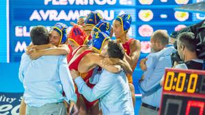 Alegría del joven equipo español que está en semifinales del Mundial